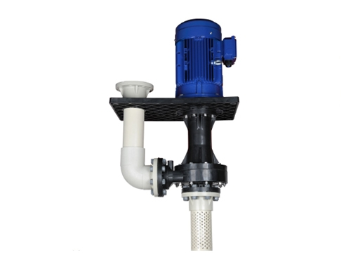 KD可空转直立式耐酸碱泵(槽外加板)